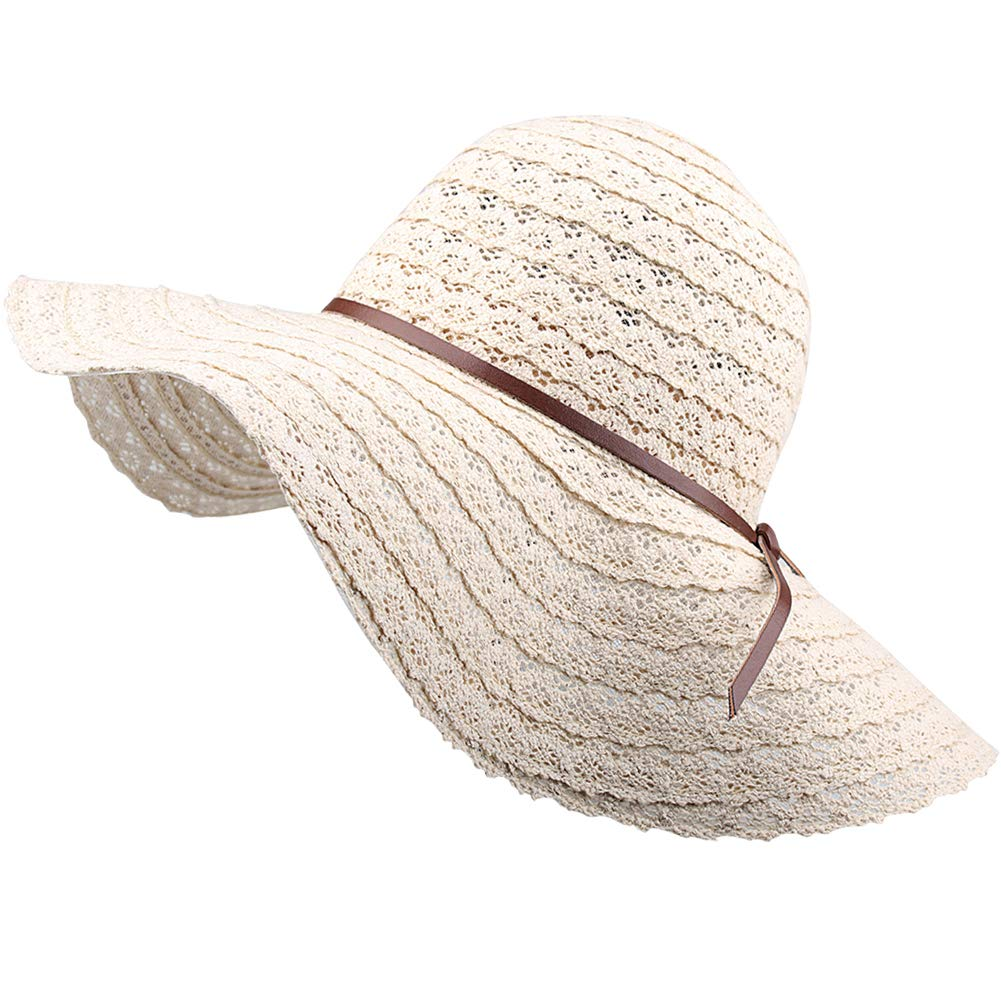 00da1c4d FURTALK Summer Beach Sun Hats for Women UPF Woman Foldable Floppy Travel  Packable UV Hat Cotton, Wide Brim Hat at Amazon Women's Clothing store: