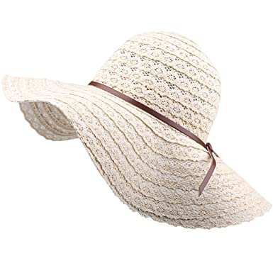 Summer Beach Sun Hats For Women - FURTALK UPF Woman Foldable Floppy Travel  Packable UV Hat Cotton a2161bdce2d