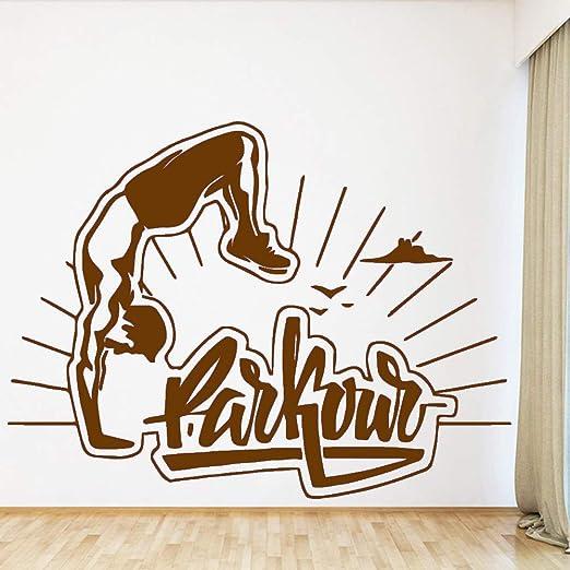 zqyjhkou Divertido Sport Parkour Vinilo Adhesivos de Pared Decoración para Habitaciones de niños Decoración de la Sala Murales Calcomanías 2 L 43cm X 57cm: Amazon.es: Hogar