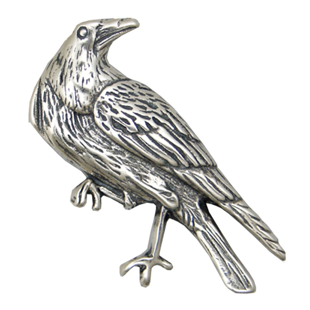 Sterling Silver Rascal Raven Pendant