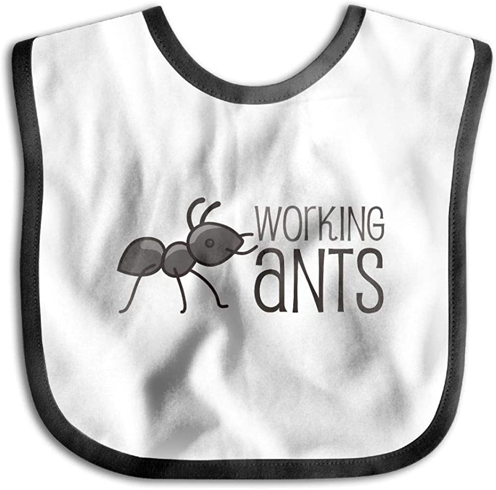 Amazon Com Working Ants Funny Baby Bibs Burp Infant Cloths Drool Toddler Teething Soft Absorbent Clothing