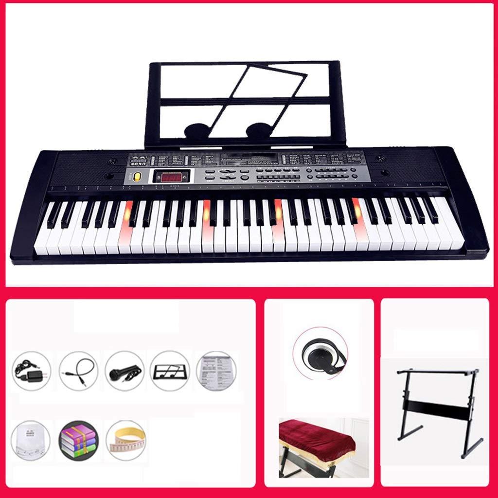 C Ich werde jetzt Maßnahmen ergreifen 61-Tasten-Klaviertastatur-Tastatur Kind Erwachsene Universaltastatur (schwarz) (Design   C)