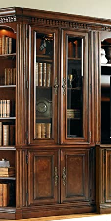 Hooker Furniture European Renaissance II Glass Door Bookcase in Cherry