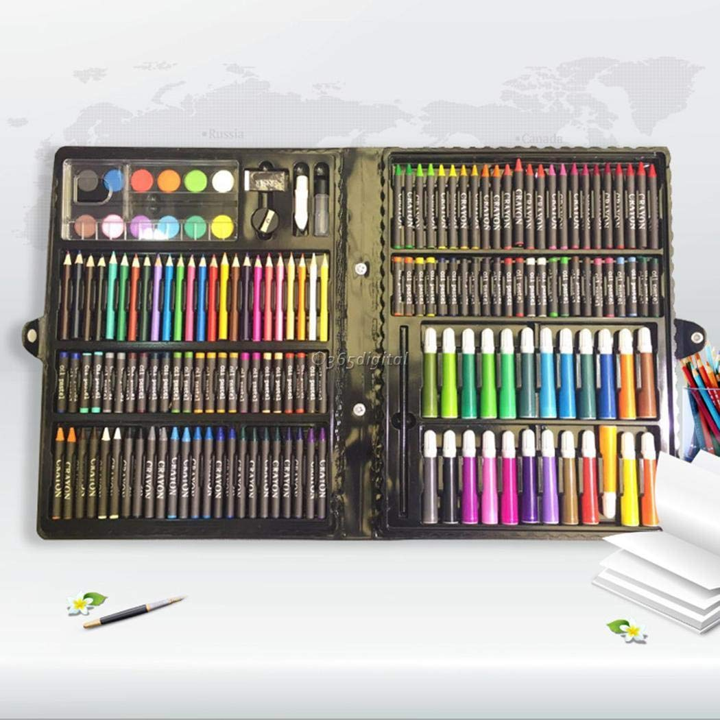 Deluxe Art Set,168Pcs Children's Drawing Painting Sketching Tools Set Watercolor Pen Crayon Oil Pastel Paint Brush Drawing Pen Color Pencil etc for Art Student Adult by cables (Image #4)