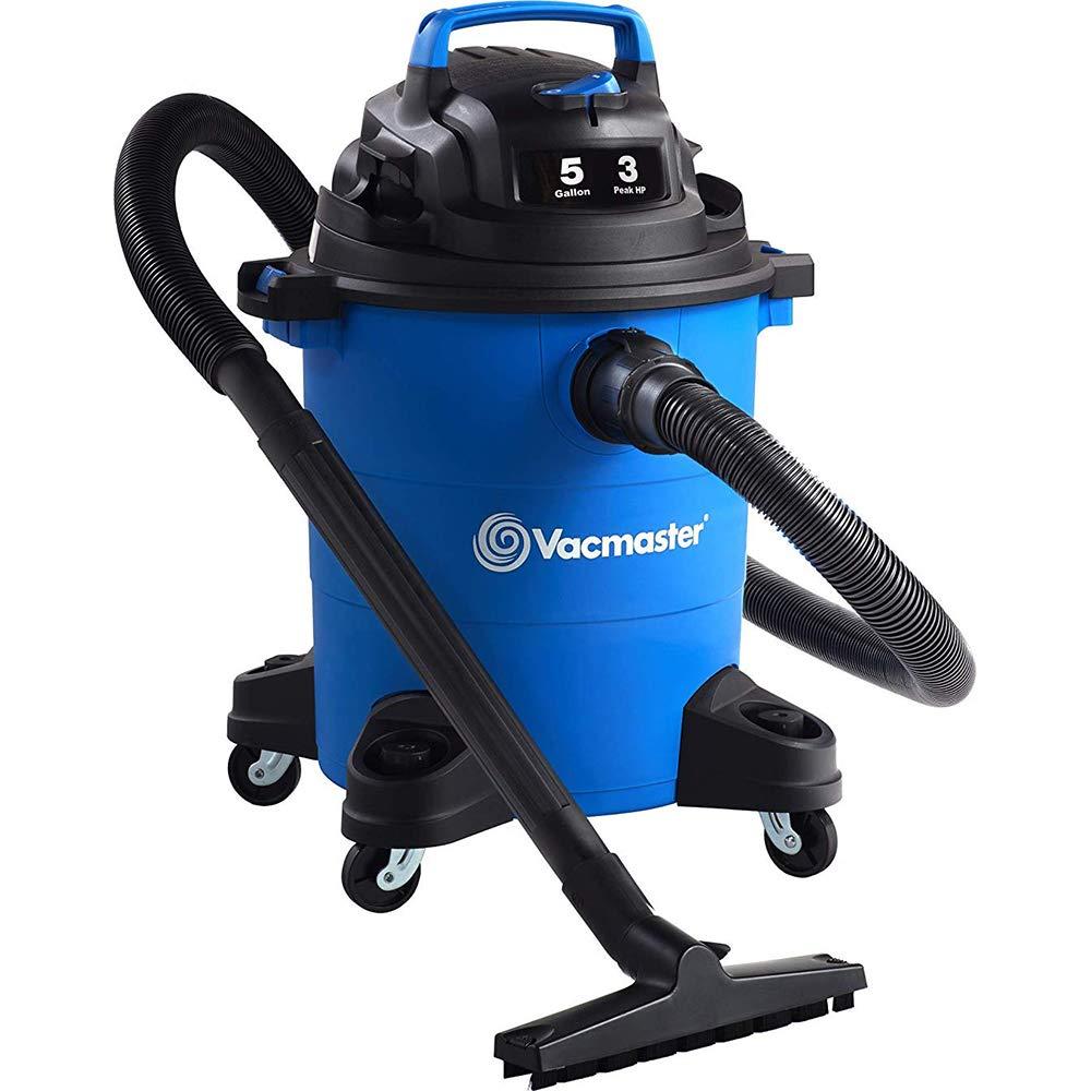 Vacmaster 5 Gal. Wet/Dry Vacuum, 3 HP 1-1/4'' Hose (VOC507PF), Blue