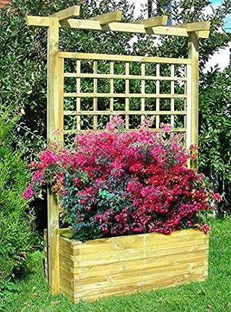 Jardinera con enrejadoDimensiones: 180 x 50 x 210 cm (ancho x profundo x alto).: Amazon.es: Bricolaje y herramientas