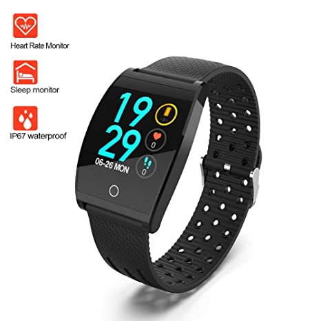 Smart Watch,Bluetooth Smartwatch Fitness Watch Wrist Phone Watch Touch Screen IP67 Waterproof Fitness Tracker with Heart Rate Monitor Pedometer Sports ...