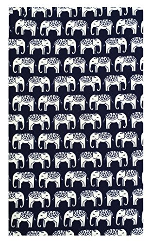 Elephants Cotton Waitstaff Organizer Guest Check Presenter, Check Book Holder for Restaurant, Checkbook Cover, Check Pad Holder, Server Book for Waiter with Money Pocket (With Plastic Covers) by Kathy
