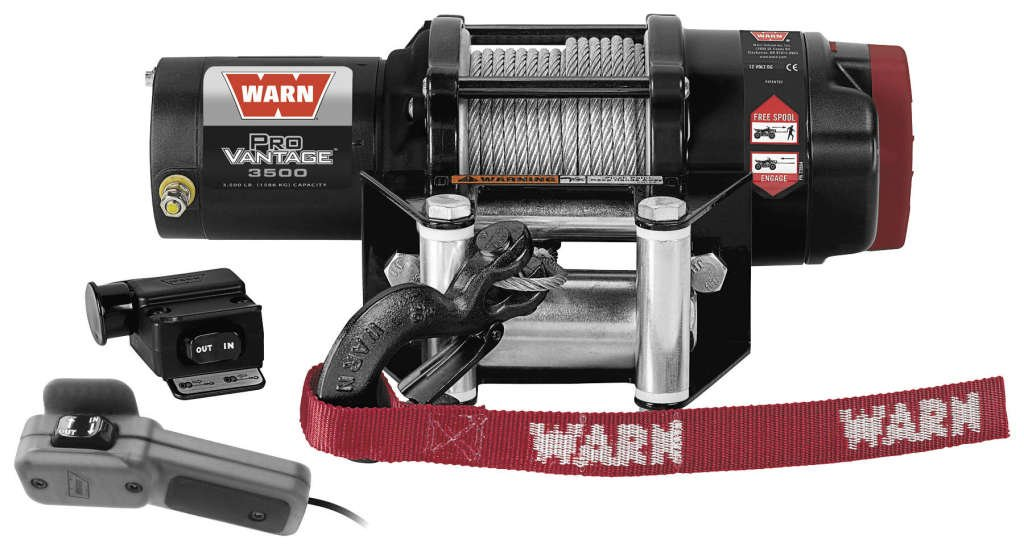 New Warn ProVantage 3500 lb Winch With Model Specific Mounting Hardware - 2009-2013 Kawasaki Teryx 750 4x4 Sport UTV