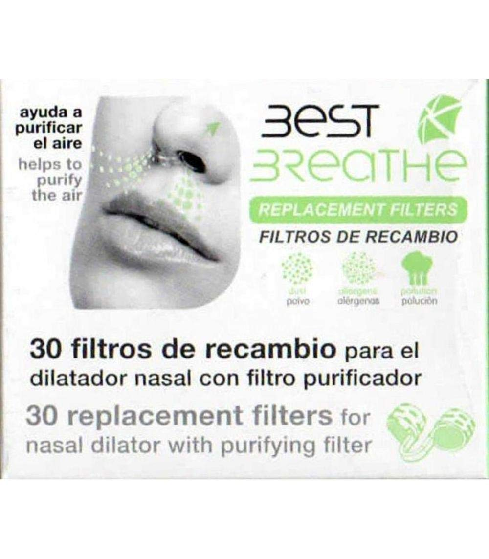 Amazon.com: Best Breathe Replacement Filters 30 Units – Fits Perfectly in Your Nasal Filter – Up to 15 Days of use – Allow Filtration Efficiently – Spain.