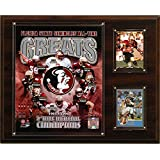 CandICollectables 1215FSUGREAT NCAA Football 12 x 15 in. Florida State Seminoles All-Time Greats Photo Plaque