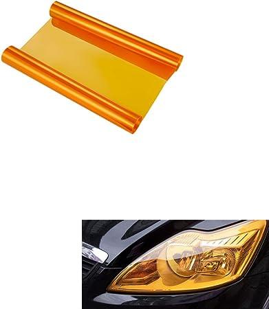 Aby 200cm X 30cm Scheinwerfer Folie Tönungsfolie Aufkleber Für Auto Scheinwerfer Rückleuchten Blinker Nebelscheinwerfer Orange Auto