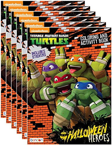 Nickelodeon's Teenage Mutant Ninja Turtles Halloween Coloring and Activity Book with Stickers (Pack of 6) -