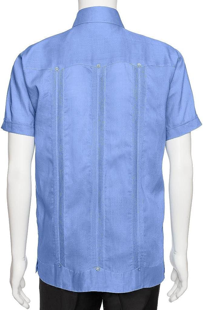 GIOVANNI UOMO - Camiseta de Manga Larga o Corta para Hombre (100% Lino) - Azul - 4X: Amazon.es: Ropa y accesorios
