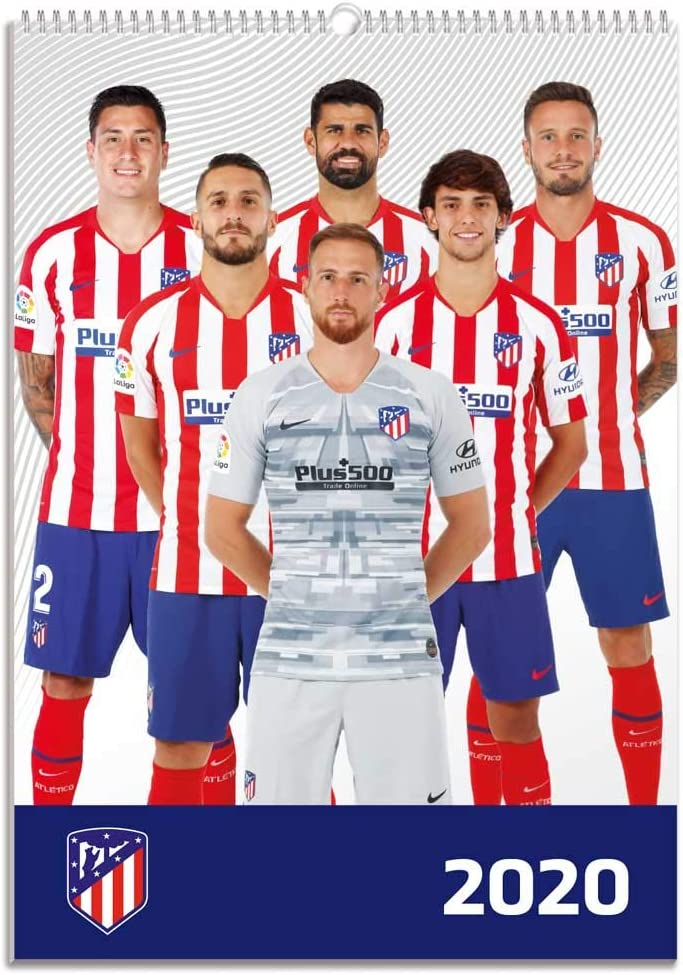 Amazon Com Erik Atletico Madrid 2020 Official A3 Wall Calendar 30 X 42cm Atletico Madrid Home Kitchen