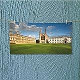 AmaPark Towel bar Cambridge University and Kings College Chapel Multipurpose Quick Drying L27.5 x W11.8 INCH