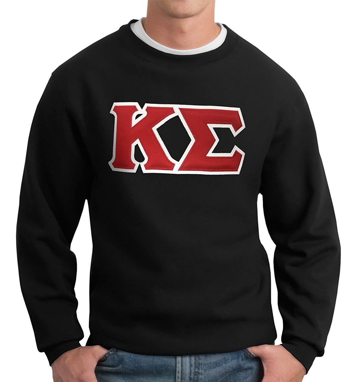 Campus Classics Kappa Sigma Crew Neck Sweatshirt with Sewn On Greek Letters