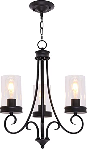 BOWRAIN 6 Lights Brushed Nickel Chandelier Light Fixture Contemporary Sputnik Pendant Light Modern Flush Mount Hanging Lamp for Dining Kitchen Island Bedroom Lighting