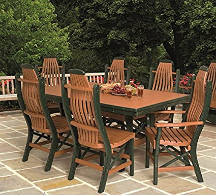 Amazon.com: Juego de muebles de patio de poli madera que ...