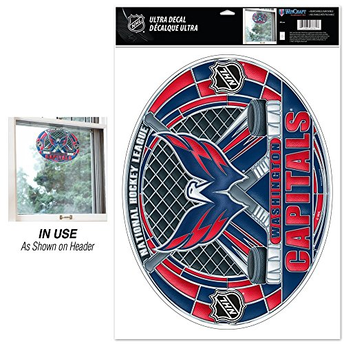 NHL Washington Capitals Multi-Use Decal Stained Glass