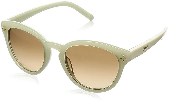 Amazon.com: anteojos de sol Chloe CE 630 S 102 Marfil/Crema ...