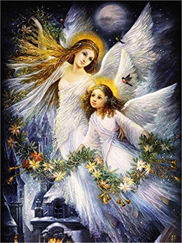 Diy Oil Paint by Number Kit for Adults Beginner 16x20 inch - Mama Baby Angel, Drawing with Brushes Christmas Decor Decorations Gifts (Without - Oil Ballet Painting