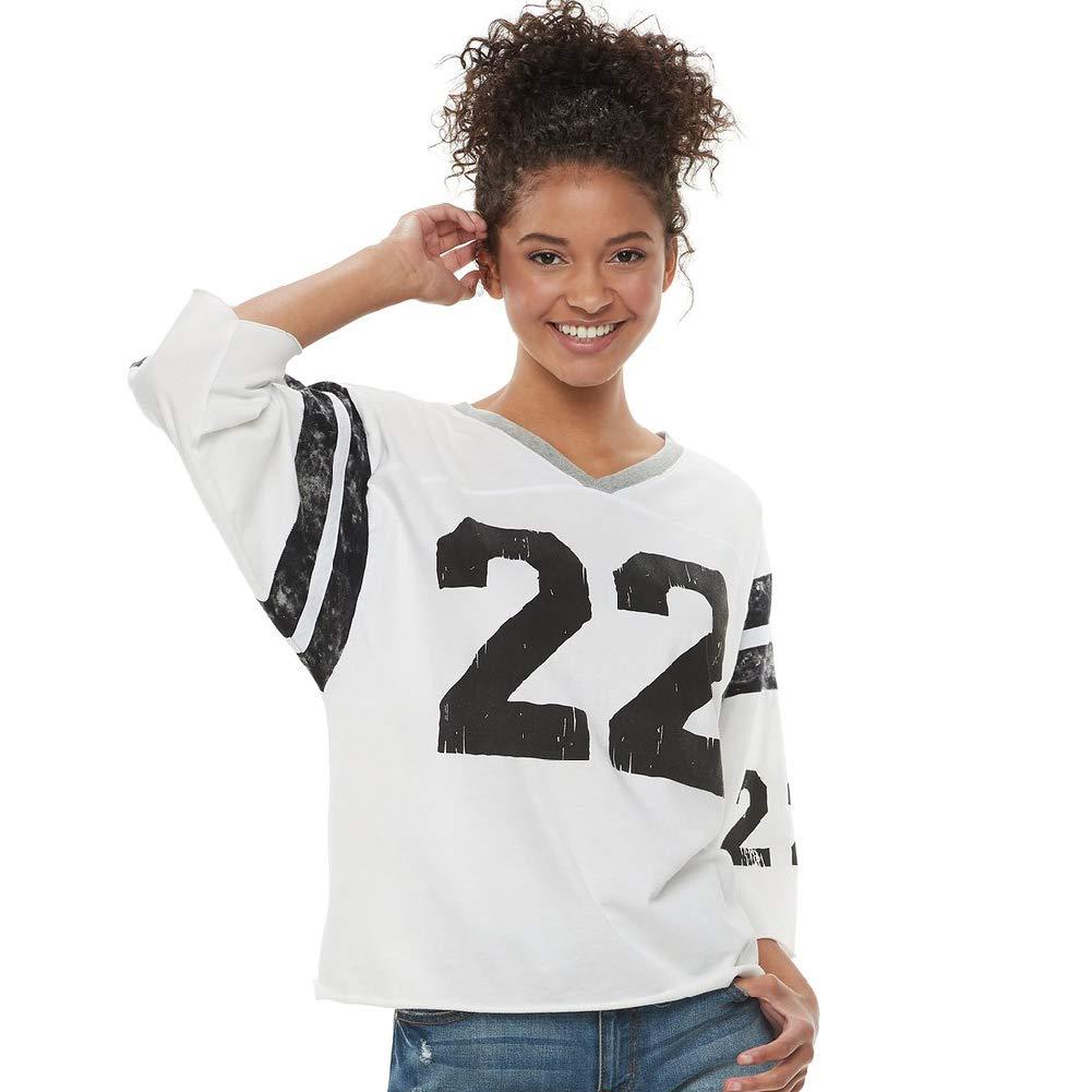 half off 4b432 a57c7 Vanilla Star Junior's #22 Football Jersey Shirt 3/4 Sleeves ...