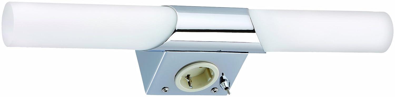 spiegelleuchte mit schalter und steckdose kb74 hitoiro. Black Bedroom Furniture Sets. Home Design Ideas