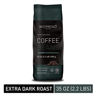 Bestpresso Whole Bean Coffee (Extra Dark Roast, 35 Ounce 1 Pack)