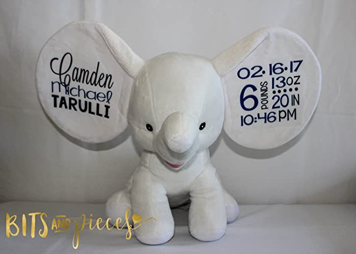 Amazon cubbies personalized stuffed animal birth cubbies personalized stuffed animal birth announcement personalized baby gift valentines day gift negle Choice Image
