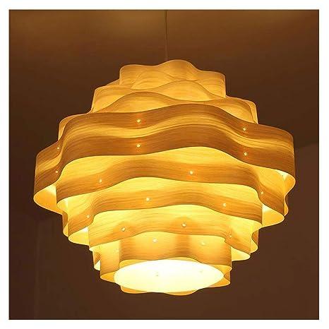 Chandelier.w Gyp Lámpara, lámparas asiáticas Modernas Madera ...