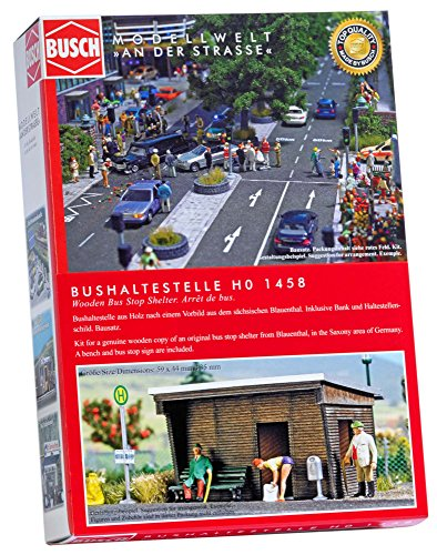 Ho Bus Stop - Busch 1458 Wooden Bus Stop Shelter HO Structure Scale Model