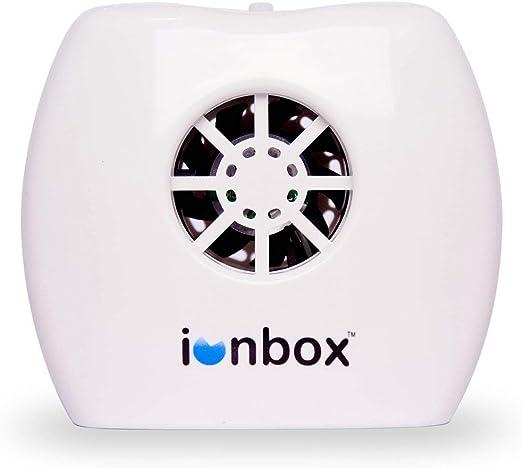 IonPacific ionbox, generador de iones negativos con salida más alta, hasta 20 millones de iones negativos, ionizador móvil sin filtro y purificador de aire de viaje USB, elimina contaminantes, alérgenos, moho, gérmenes: