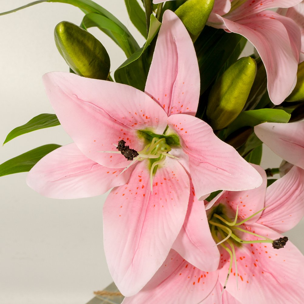 Amazon Artificial Lilies Flowers 5 Bundles 3 Heads Real Touch