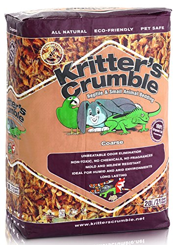 Kritter's Crumble All Natural Coconut Husk Fiber Reptile Substrate and Small Animal Bedding - Coarse, 21 quarts (Substrate Reptile)