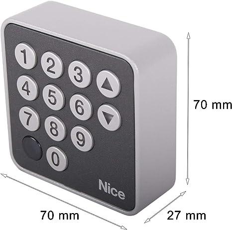 ERA Keypad pour transmission de portail coulissant Keypad Clavier de codes NICE EDSB BlueBus
