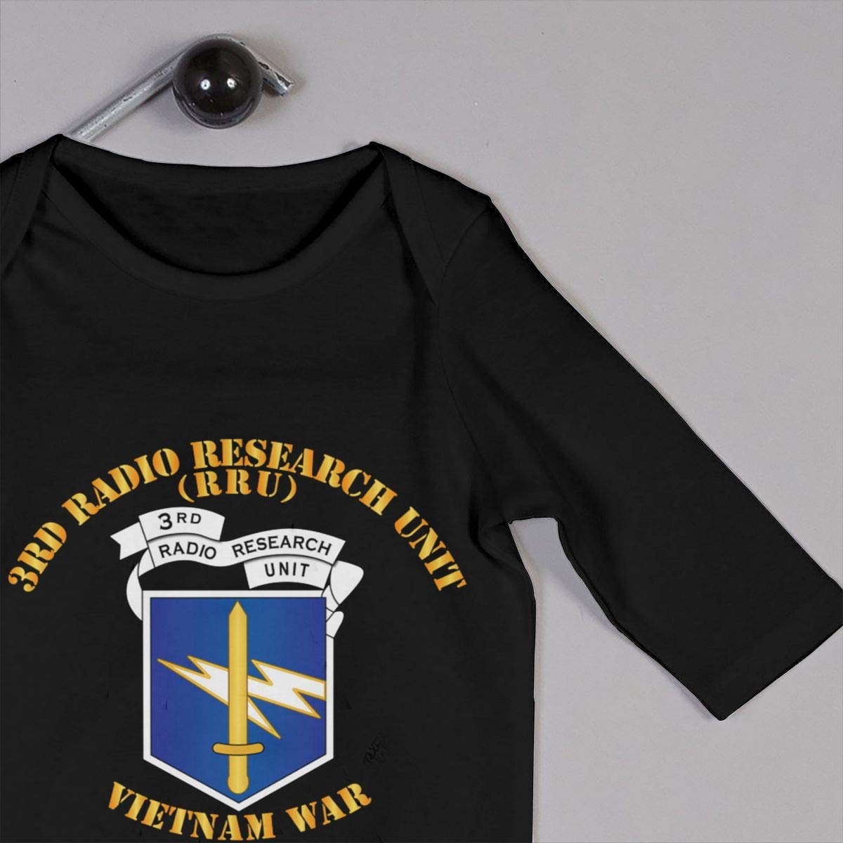 3rd Radio Research Unit Mobile Det Vietnam War Baby Long Sleeve Bodysuit Cotton Romper