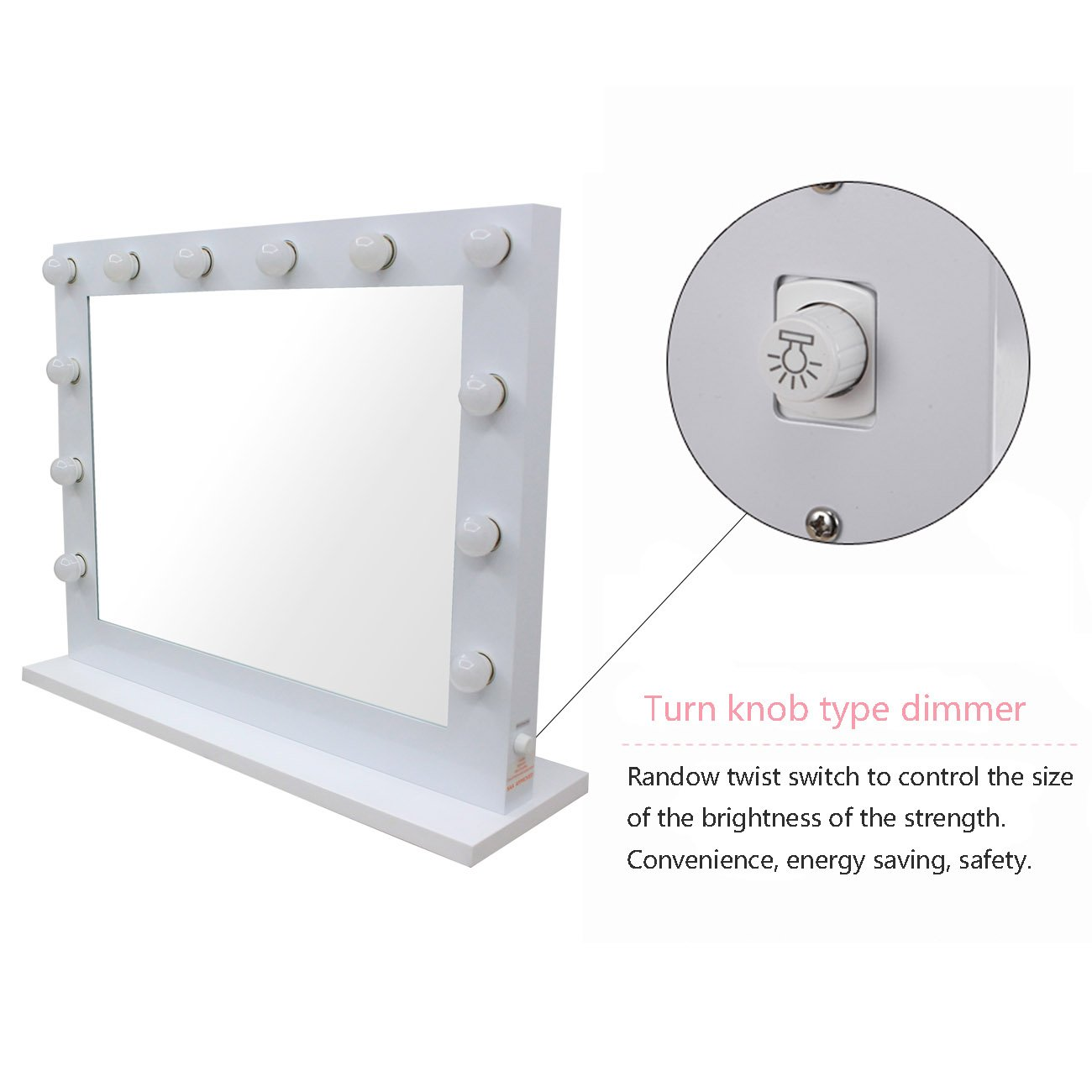 Vanity Lights With Dimmer : Chende White Hollywood Lighted Makeup Vanity Mirror Light with Dimmer Gift eBay