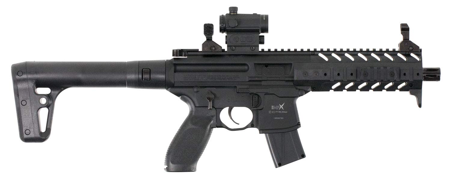 Sig Sauer MPX .177 Cal CO2 Powered SIG20R Red Dot Air Rifle 30 Rounds , Black