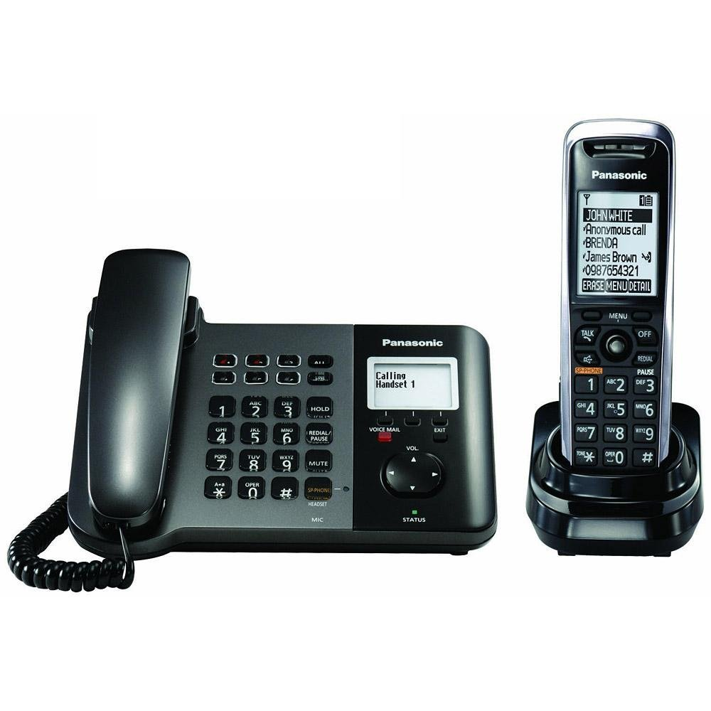 Panasonic Cloud Business Phone System, KX-TGP551T04, Black, 1 Handset (VoIP/ SIP) by Panasonic
