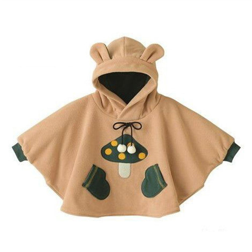 SPRMAG Baby Boys Animals Fleece Hooded Cape Cloak Poncho Hoodie Coat Made in China