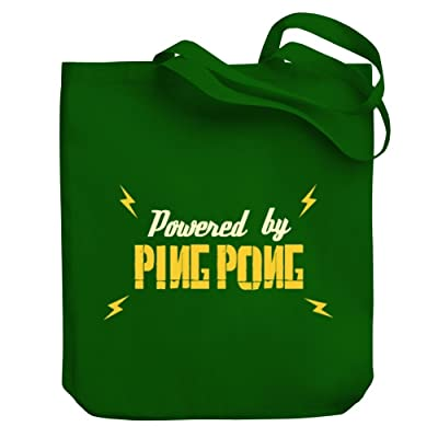 Teeburon POWERED BY Ping Pong Canvas Tote Bag