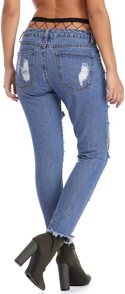 Pantalones Vaqueros Azules De Mezclilla Pantalones Causal ...
