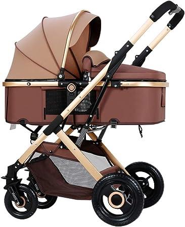 Opinión sobre Cochecito de cuatro ruedas, marco grueso de aleación de aluminio, ruedas amortiguadoras de goma para proporcionar un descanso estable para el bebé, plegable con un solo botón con una mano