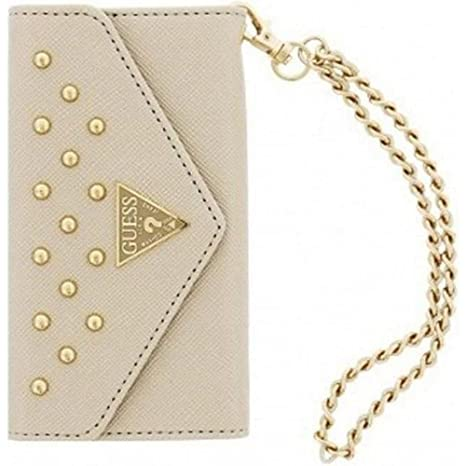 Guess GUFM037 - Funda tipo cartera para Apple iPhone 5/5S, beige