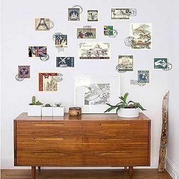 mmwin Sellos De Color Modernos Wall Ker Cocina Nevera Cartel Vintage Extraíble Maleta De Viaje Arte PVC Wall KERS Decoración para El Hogar: Amazon.es: Hogar