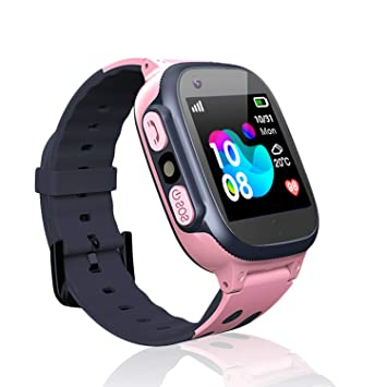 Jslai Niños Smartwatch Relojes, Inteligente LBS Tracker de Alarma SOS Infantil Relojes de Pulsera Cámara Reloj móvil Mejor Regalo para Niño niña de ...