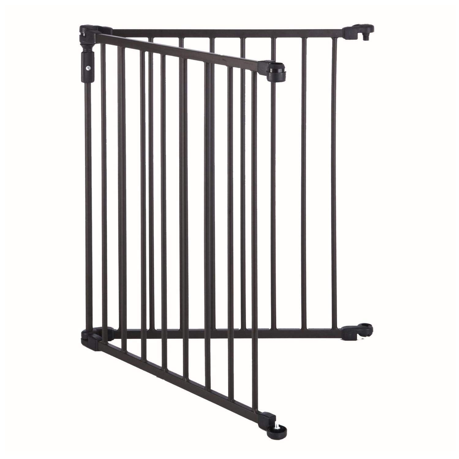 Toddleroo by North States 2-Panel Extension for 3-in-1 Arched D cor Metal Superyard Adds up to 48 for an Extra-Wide gate or Play Yard 48 Width, Matte Bronze