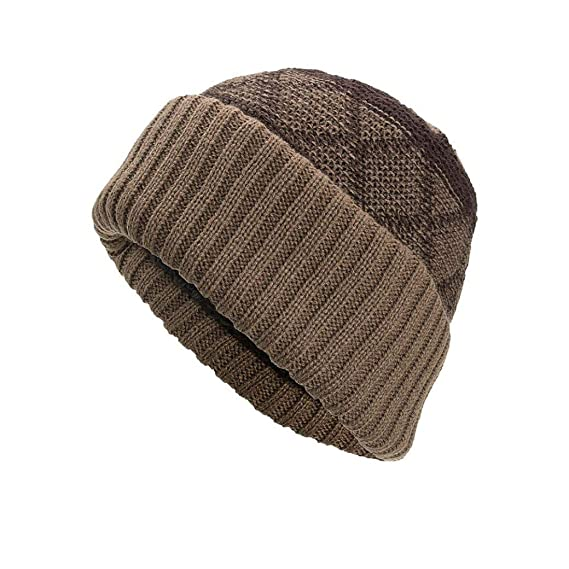 af6b7480465 Image Unavailable. Image not available for. Color  AutumnFall Womens Mens  Winter Warm Knitting Hats Wool Baggy Slouchy Beanie Hat Skull ...