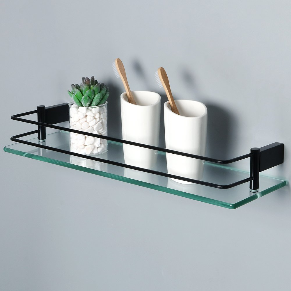 Amazon.com: Alise GC1000-B SUS 304 Stainless Steel Bathroom Glass ...